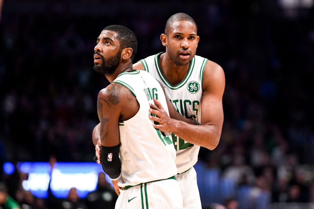 Kyrie Irving (left) and Al Horford both left the Celtics, but one absence might be harder on the team than the other.