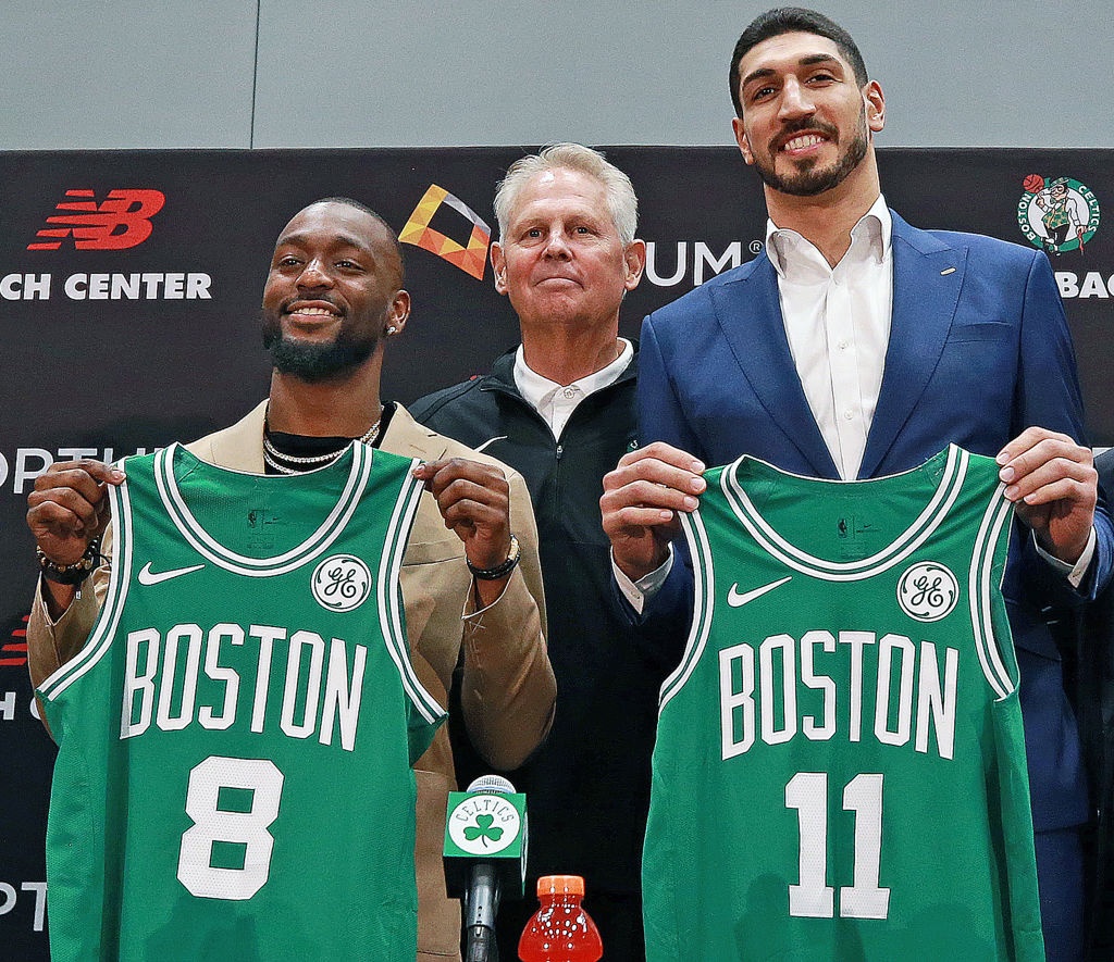 Kemba Walker (left) and Enes Kanter (right) are the new additions for the Celtics after Kyrie Irving and Al Horford left.