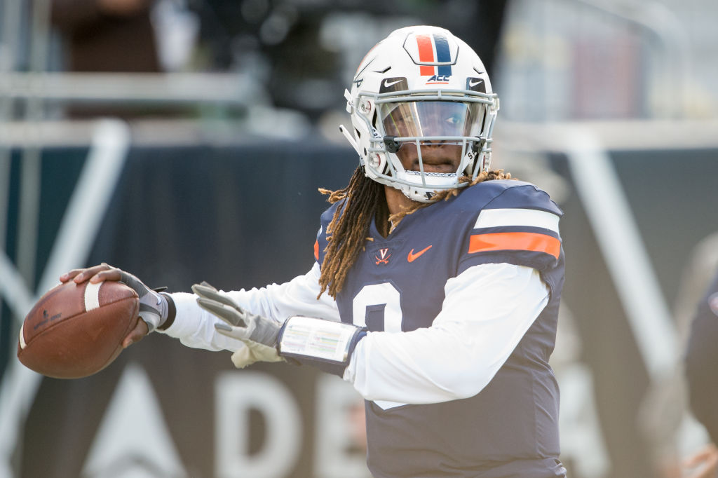 Virginia's Bryce Perkins is one of the college football quarterbacks primed to have a big season in 2019.