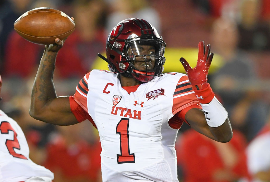 Utah's Tyler Huntley is one of the college football quarterbacks primed to have a big season in 2019.