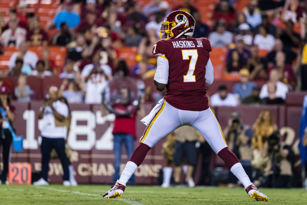 Dwayne Haskins might be the most athletically talented quarterback the Washington Redskins have, but that doesn't mean he's ready to start.