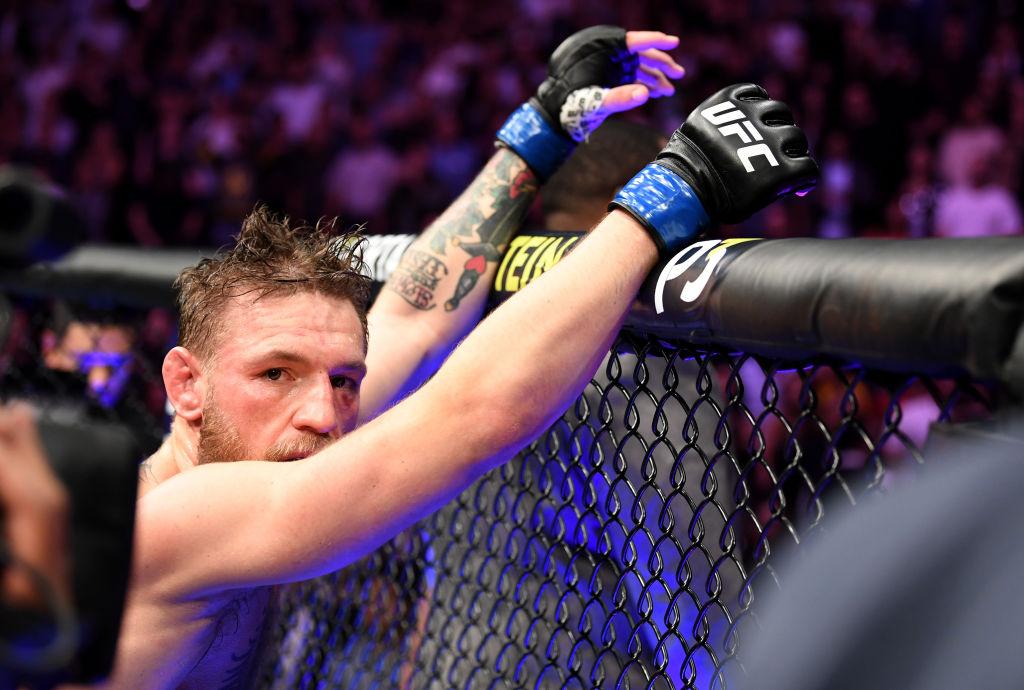 Conor McGregor following his loss to Khabib Nurmagomedov