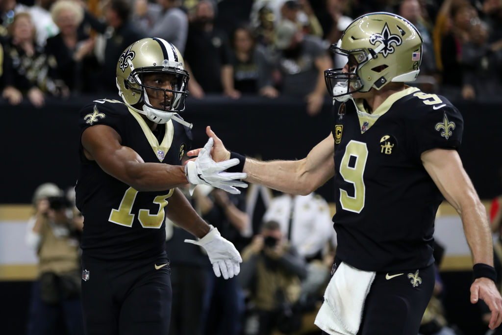 Michael Thomas and Drew Brees have had plenty to celebrate together since 2016