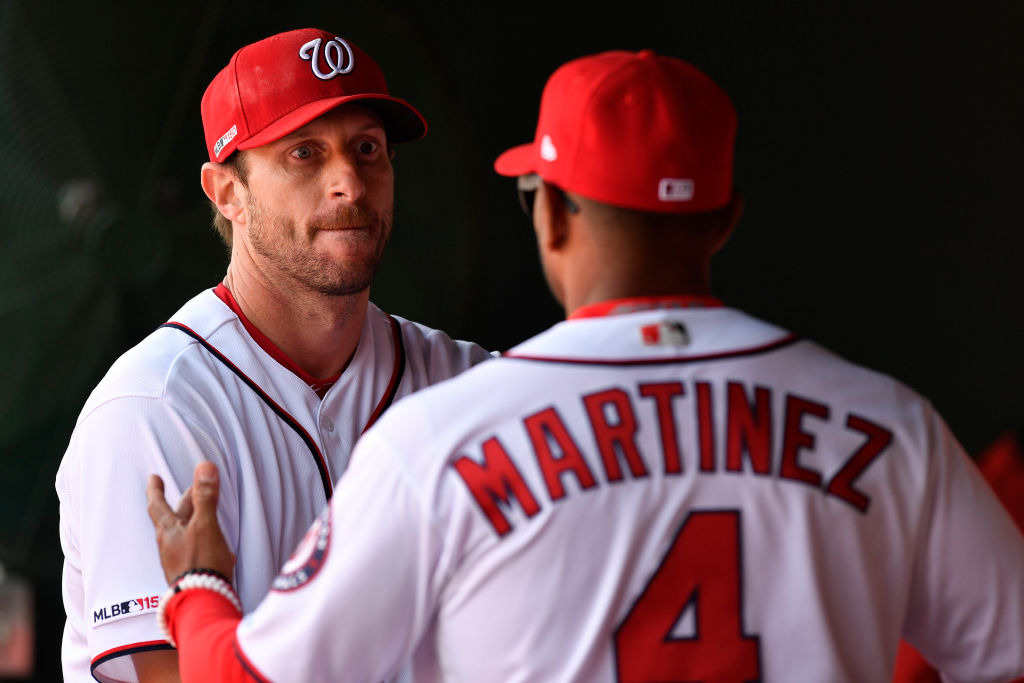 Pulling Scherzer out of a game is never easy for manager Dave Martinez
