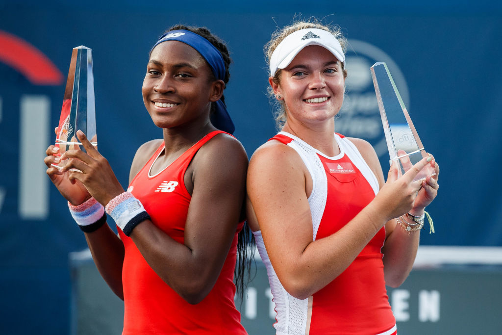 CORI GAUFF (USA)and CATHERINE MCNALLY (USA)