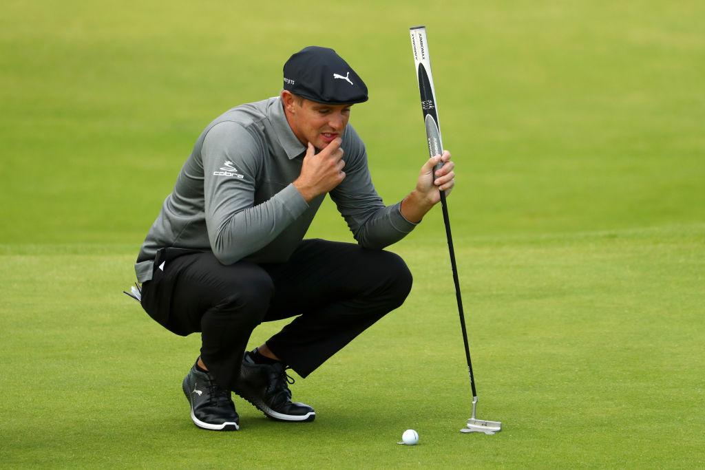 Bryson DeChambeau ponders his next shot
