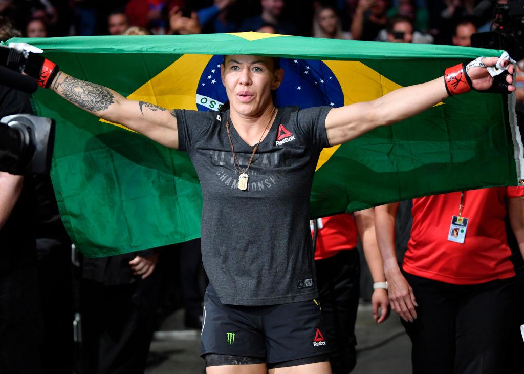 Cris Cyborg of Brazil prepares to fight Felicia Spencer of Canada