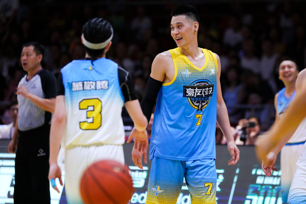 Jeremy Lin playing in an All-Star Game in Guangzhou