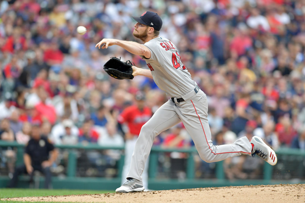 Starting pitcher Chris Sale #41 of the Boston Red Sox