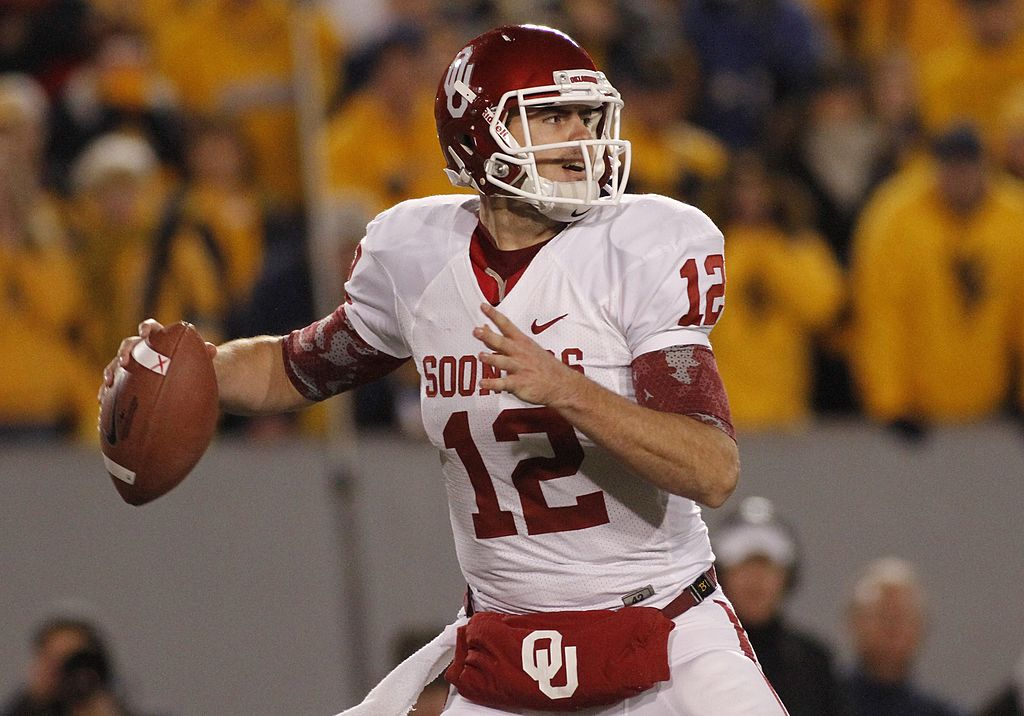 Landry Jones #12 of the Oklahoma Sooners