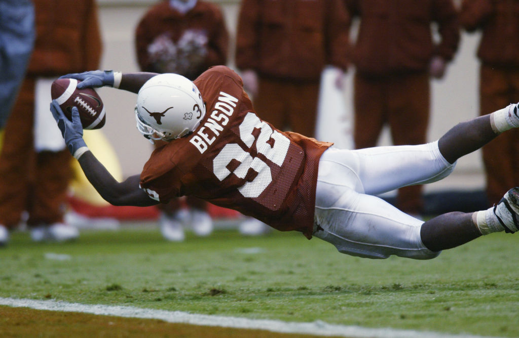 Running back Cedric Benson #32 of the Texas Longhorns