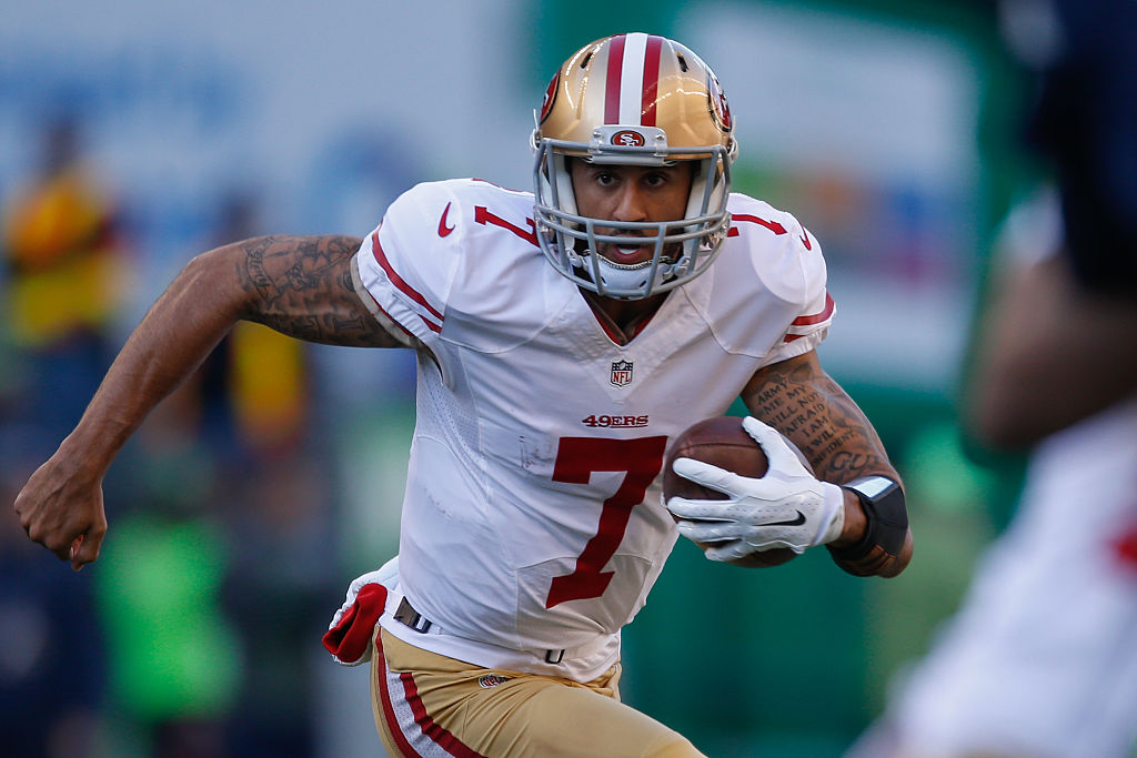 Colin Kaepernick is a dynamic rusher