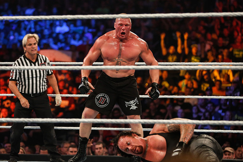 Brock Lesnar and The Undertaker battle it out at the WWE SummerSlam