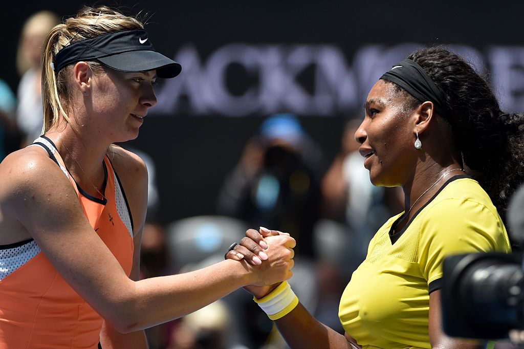 Serena Williams and Maria Sharapova in their last meeting at the 2016 Australian Open