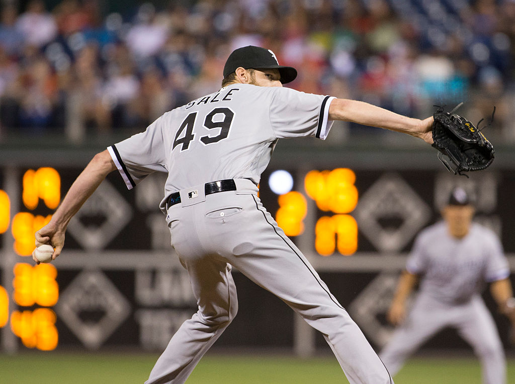 Chris Sale picked up his first 1,244 strikeouts with the Chicago White Sox