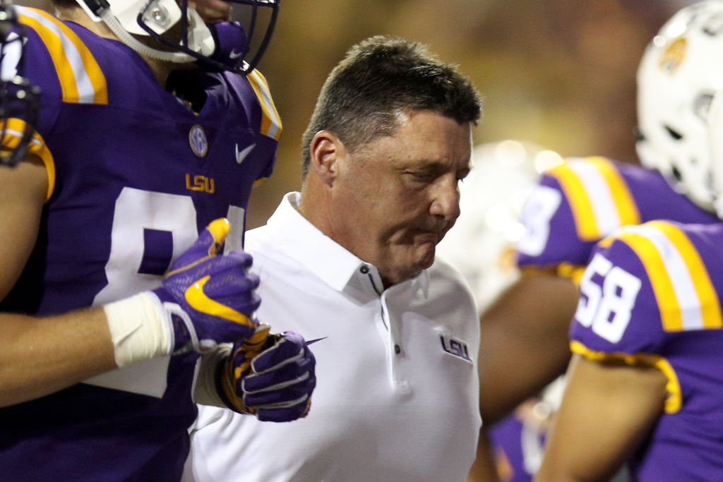 Ed Ogeron is looking for his first win against the Crimson Tide