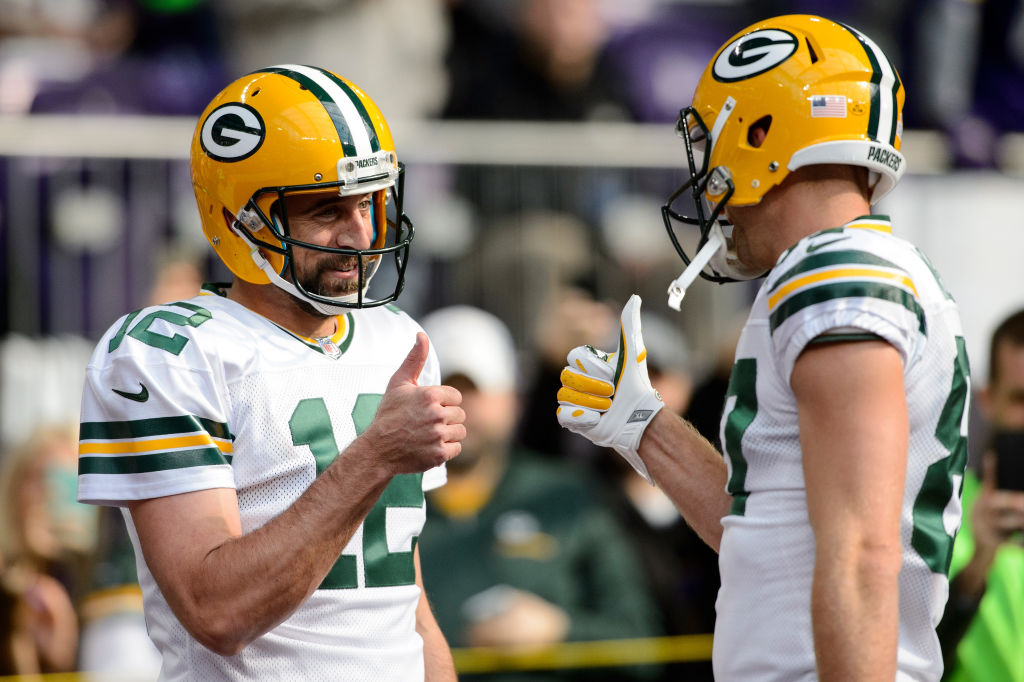 Aaron Rodgers and Jordy Nelson connected for 65 touchdowns