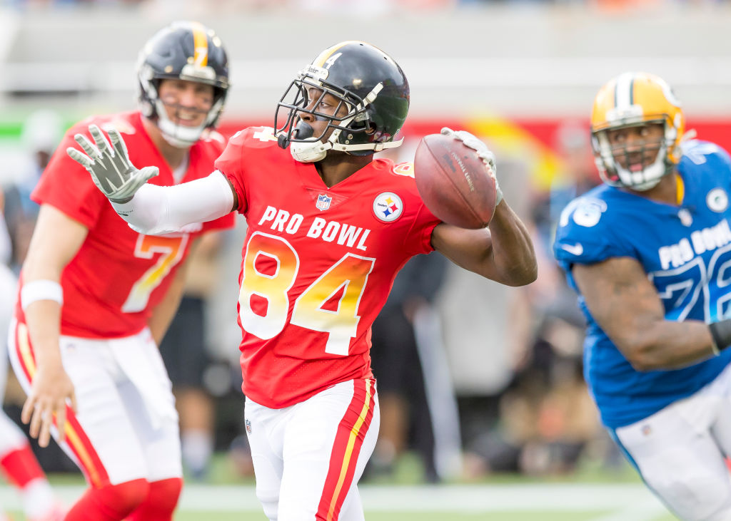 Antonio Brown at the Pro Bowl in Orlando, where the incident allegedly took place