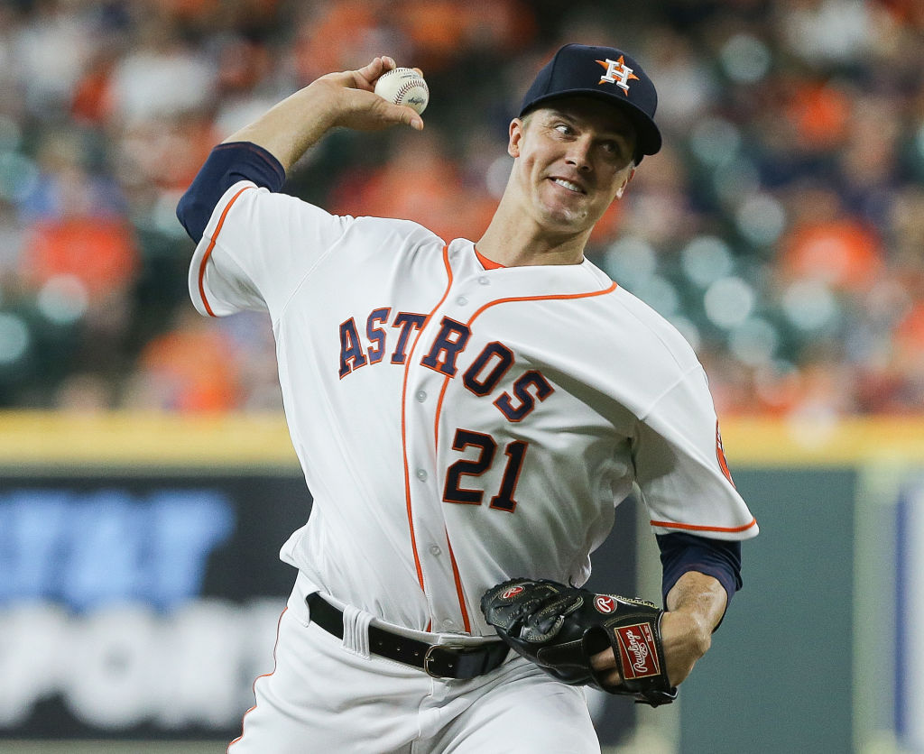 Pitcher Zack Greinke has reason to love -- and hate -- the Astros offense.