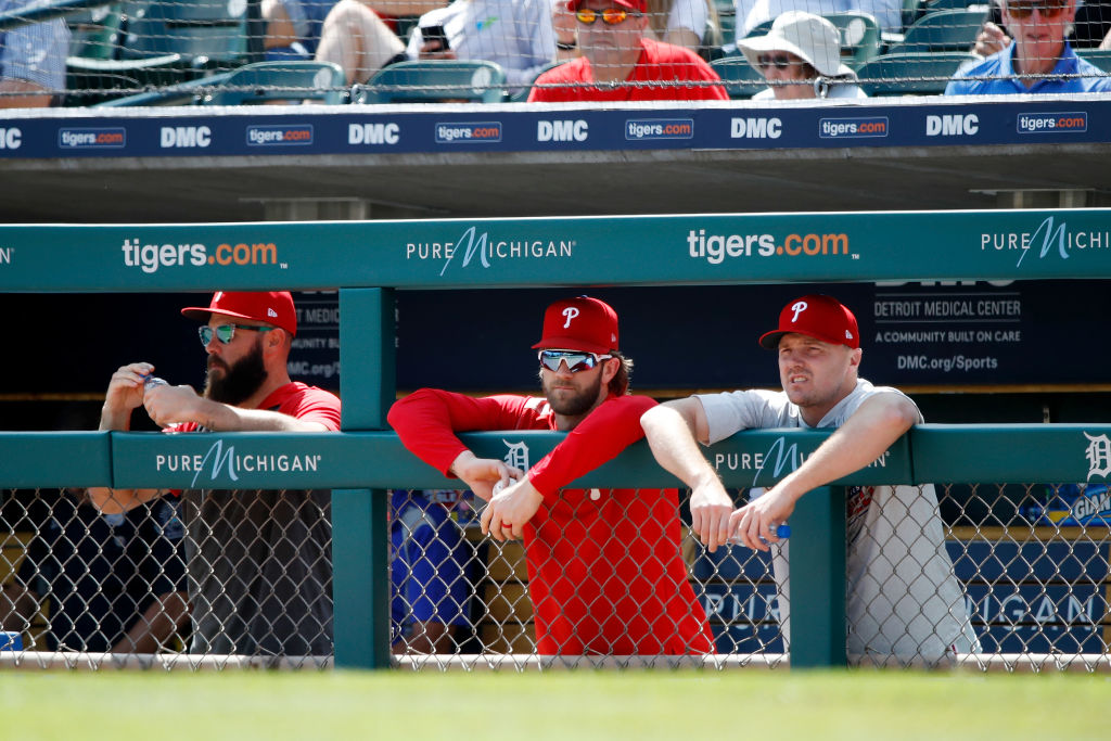 Both Jake Arrieta (left) and Bryce Harper (middle) have underperformed for the Phillies this season.