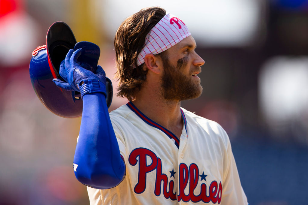 Bryce Harper (pictured) and teammate Jake Arriets have underperformed for the Phillies this season.