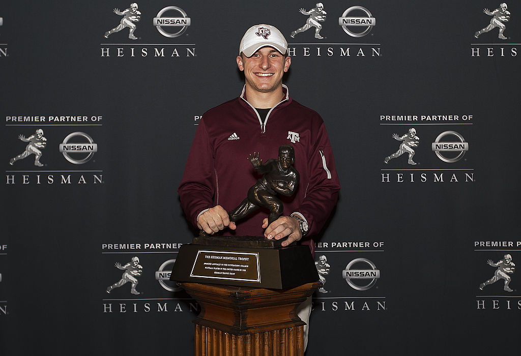 Heisman Trophy winner Johny Manziel is a long way from football with his current career.