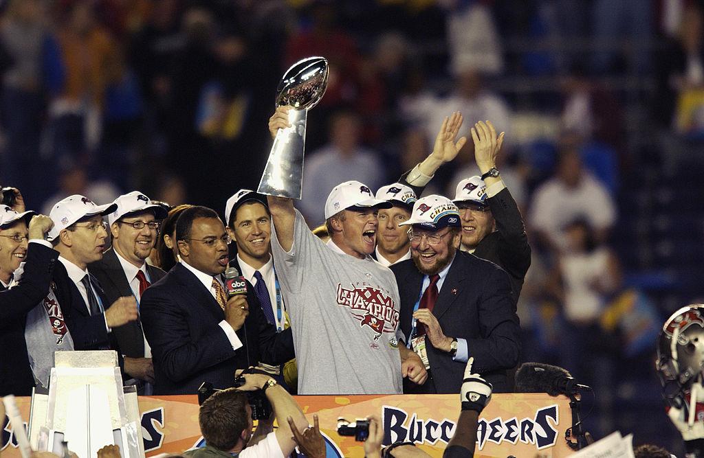 Jon Gruden at the Super Bowl