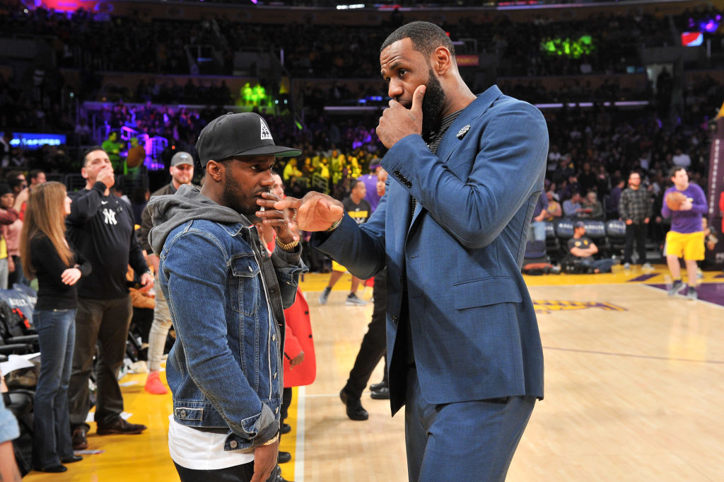 The NCAA seemed to target LeBron James' (right) business partner Rich Paul (left) with new agent rules it wanted to implement.