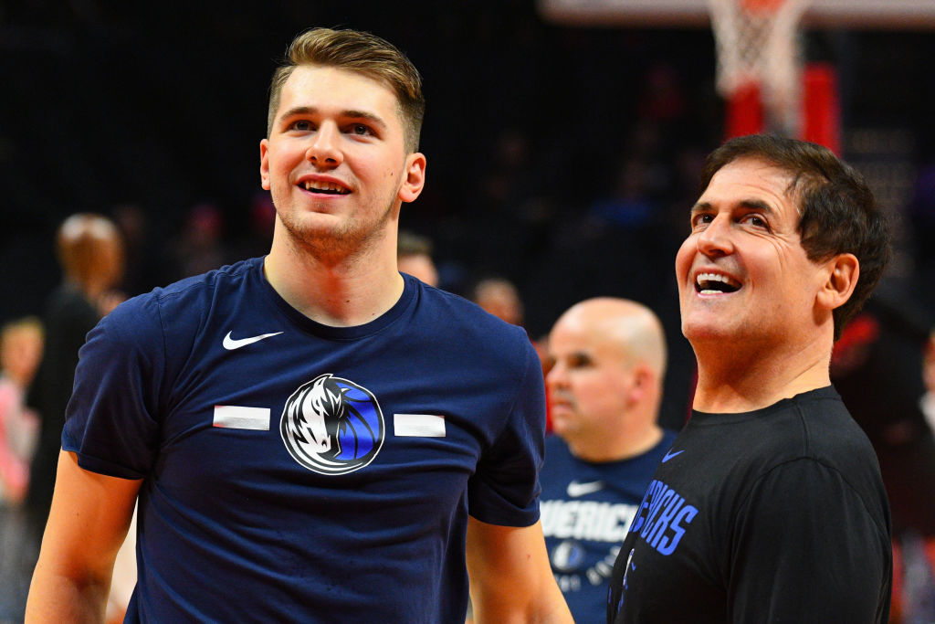 Mark Cuban and Luka Doncic