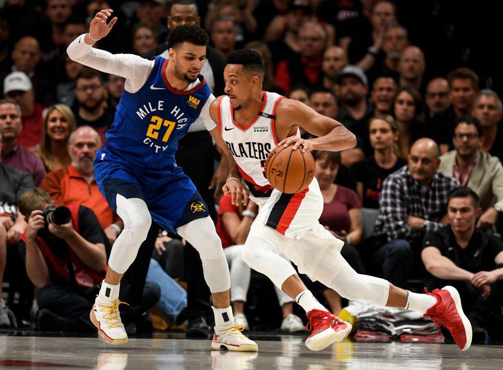 The Nuggets Jamal Murray and the Trail Blazers CJ McCollum could both be first time NBA All-Stars in 2020.