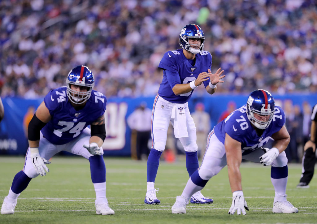 Daniel Jones (middle) and the New York Giants might be a lot better than people expect in 2019.