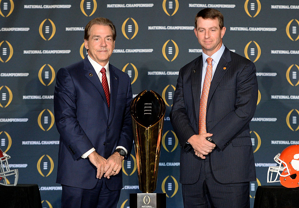 Nick Saban and Dabo Sweeney
