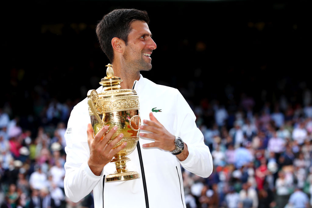 How much Novak Djokovic earned at Wimbledon 2019