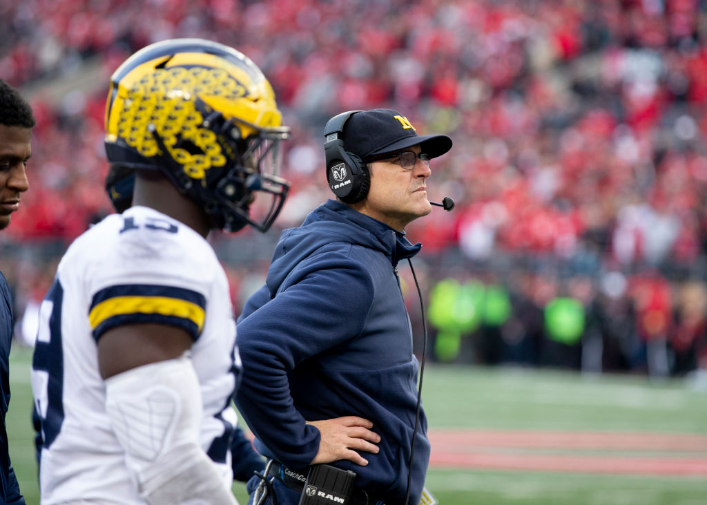 Michigan coach Jim Harbaugh doesn't have much success in the Ohio State-Michigan rivalry, which is one of the fiercest in college football.