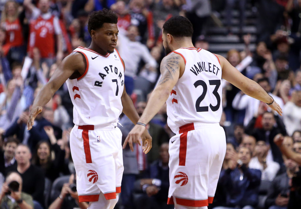 With Kyle Lowry (left) and Fred VanVleet leading the way, the Raptors should still be one of the best teams in the NBA in 2019-20.