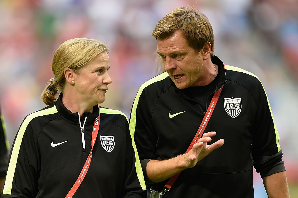 Now that Jill Ellis (left) is done coaching the U.S. Women's Soccer team, will Tony Gustavsson replace her?