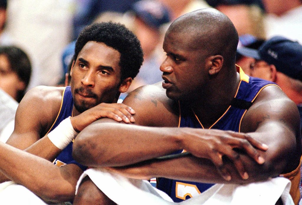 Shaquille O'Neal and Kobe Bryant championship