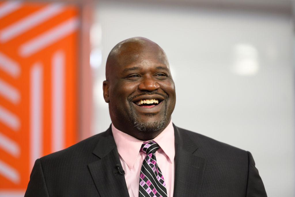 Close up shot of Shaquille O'Neal