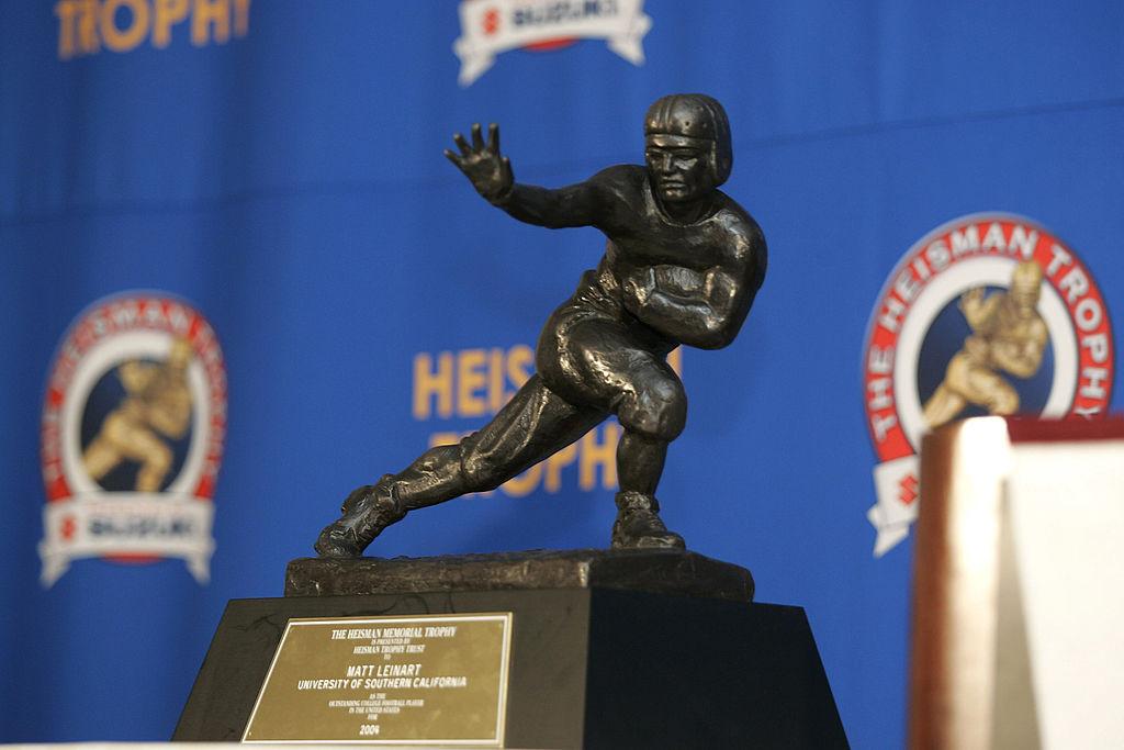 The Heisman Trophy displayed in 2004