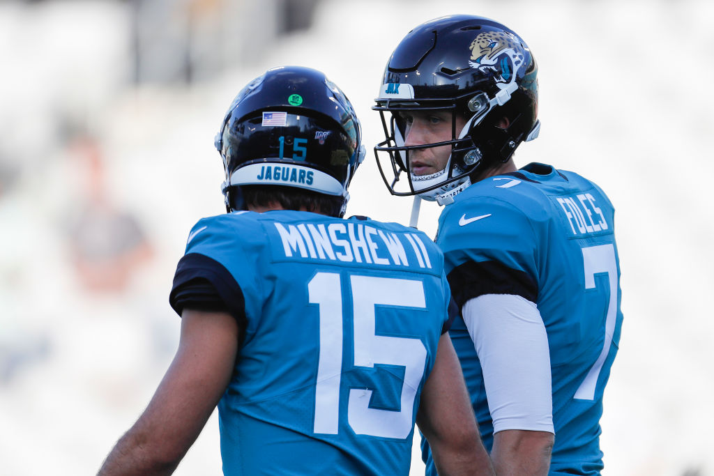 If Nick Foles (right) doesn't stay healthy, then the Jaguars might be in for a long season in 2019 with rookie Gardner Minshew running the offense.