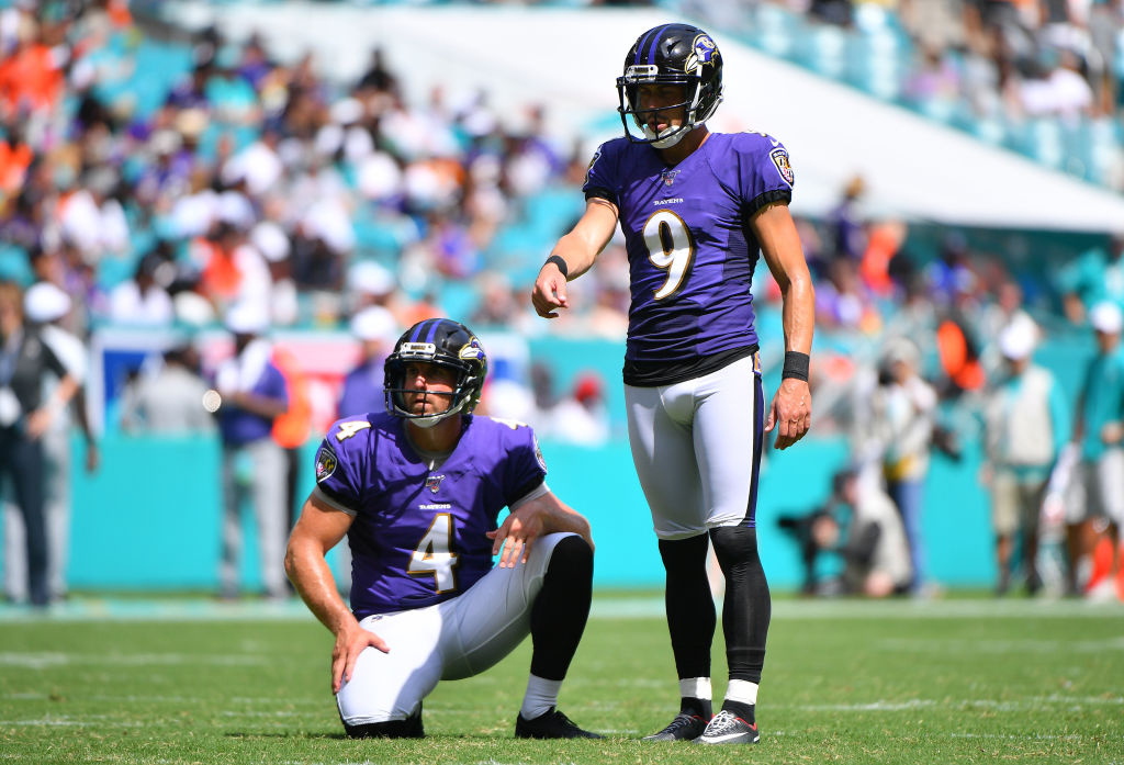 You can make the case that the Ravens' Justin Tucker (right) is one of the best NFL kickers of his or any generation.
