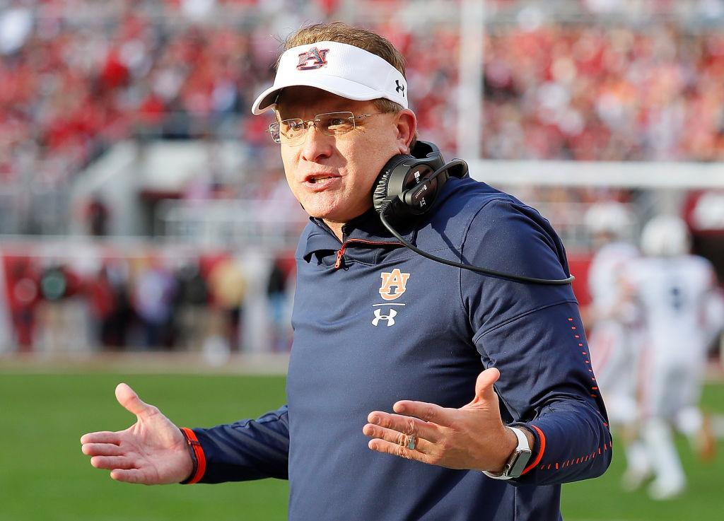 Auburn coach Gus Malzahn took a verbal jab at in-state rival Alabama.