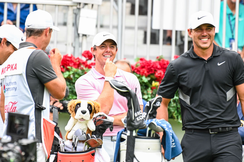 Brooks Koepka (right) had a stellar season in 2019 and repeated as PGA Player of the Year, beating out the likes of Rory McIlroy, and it puts him in select company.