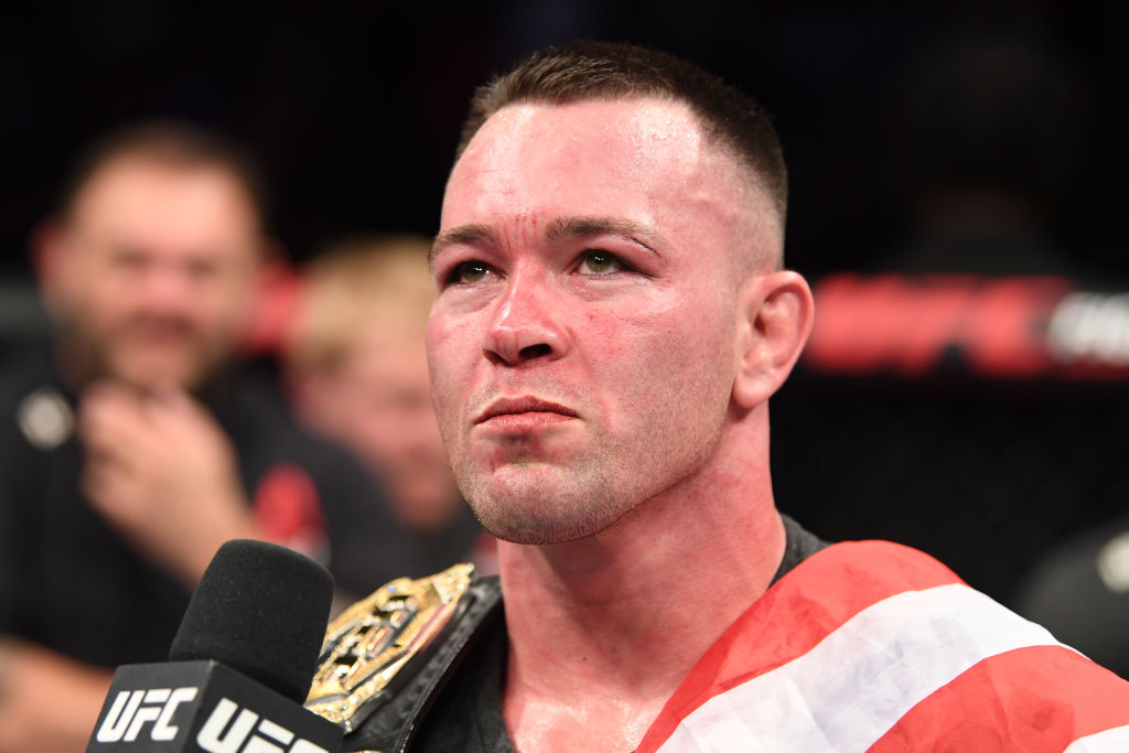 Colby Covington is interviewed after his victory over Robbie Lawler