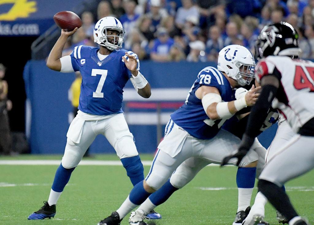 Colts quarterback Jacoby Brissett