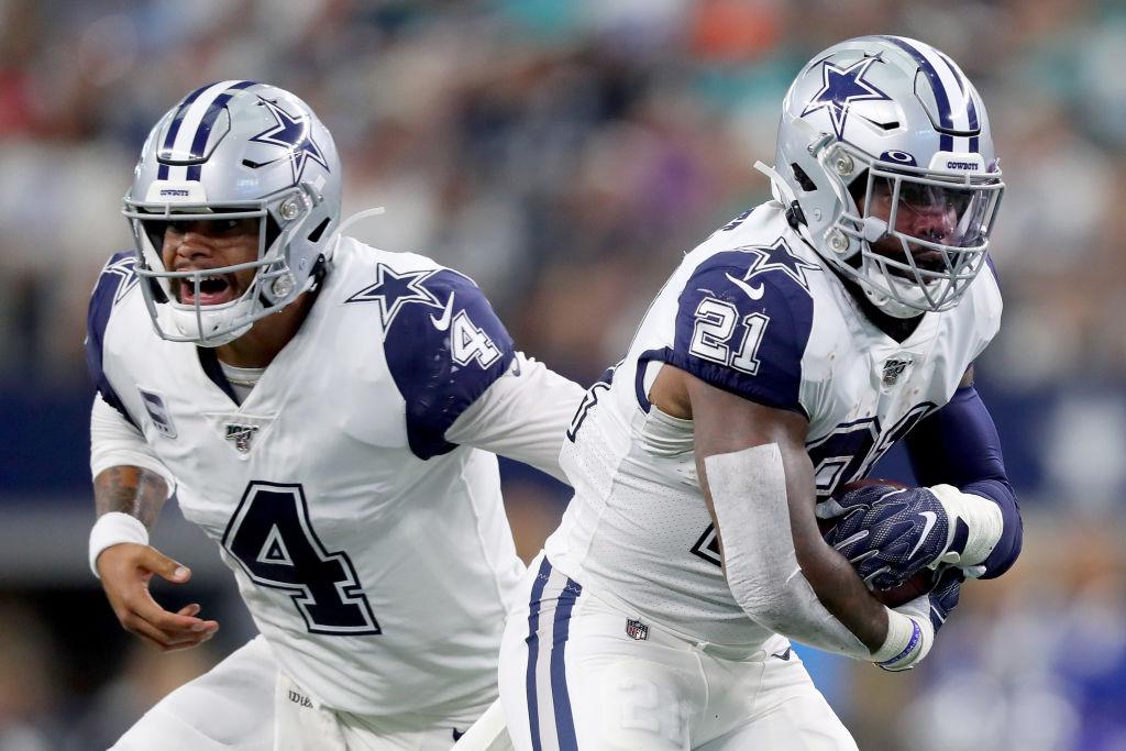 Cowboys Dak Prescott and Ezekiell Elliott