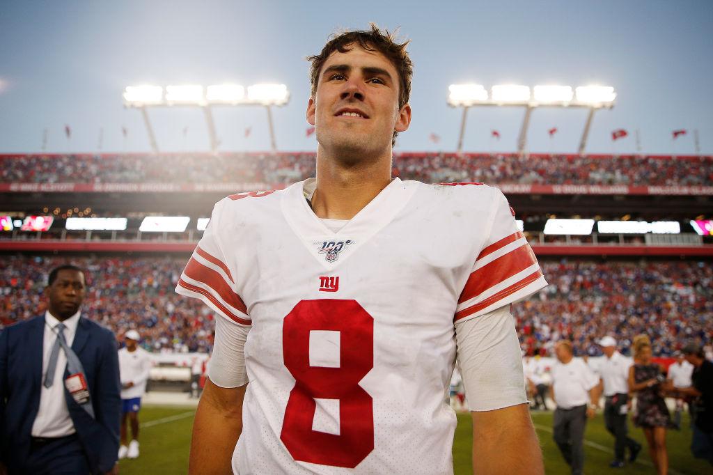 Giants rookie quarterback Daniel Jones after win vs. Buccaneers