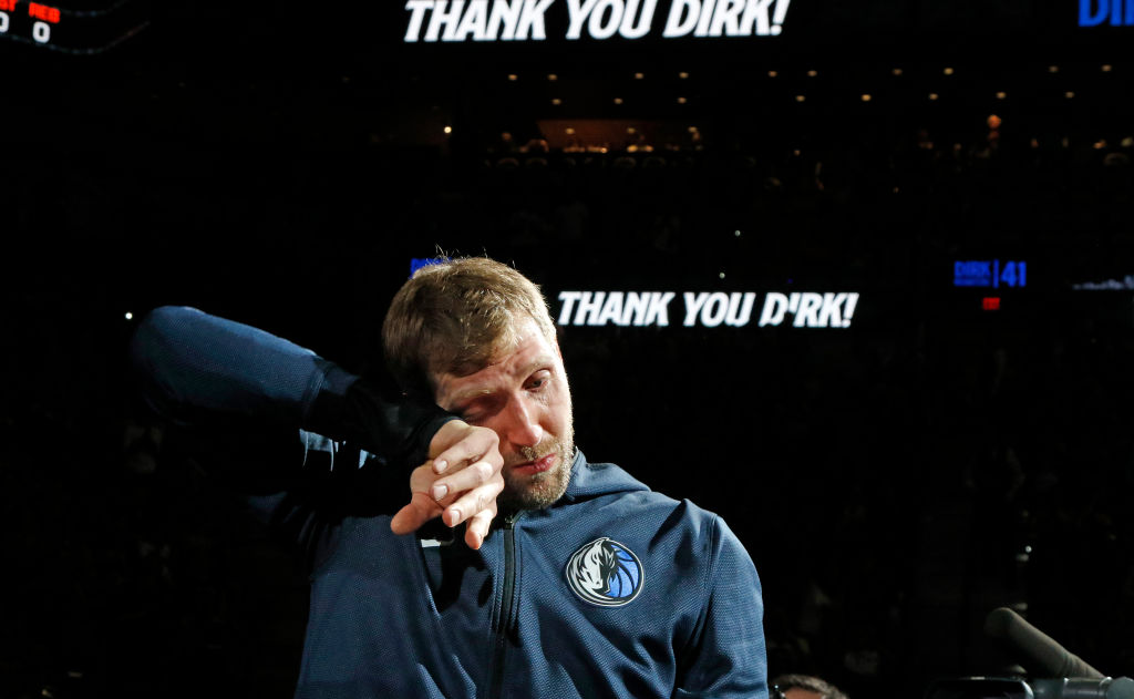 Dirk Nowitzki of the Dallas Mavericks in 2019