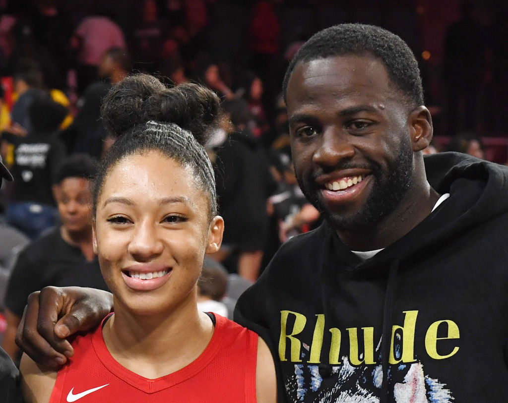 Draymond Green and Aerial Powers at a WNBA game in Las Vegas