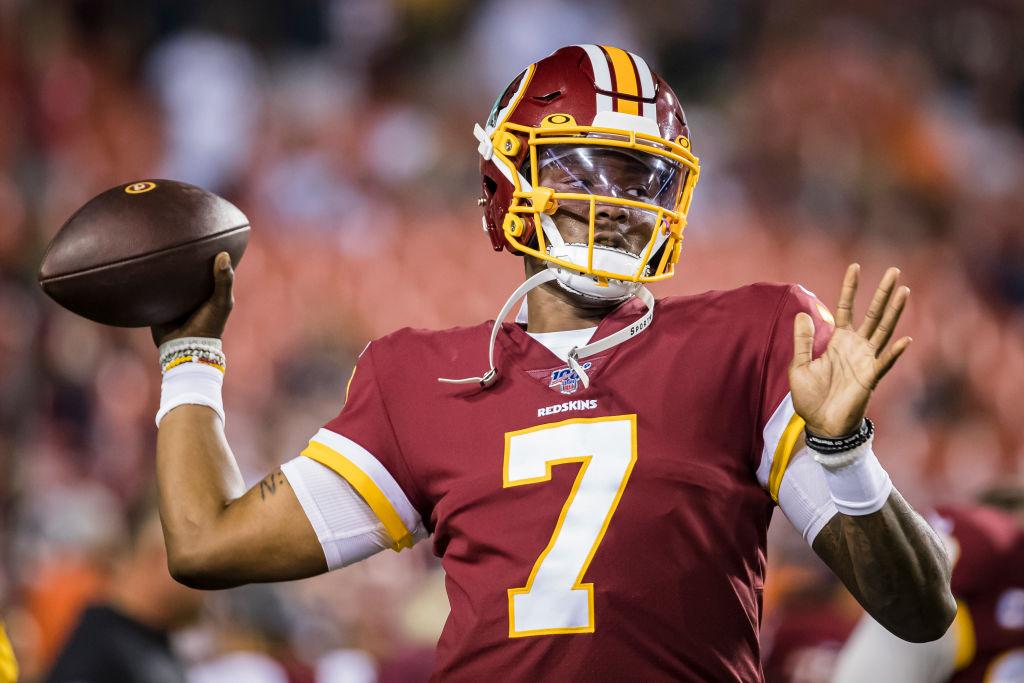 Dwayne Haskins #7 of the Washington Redskins